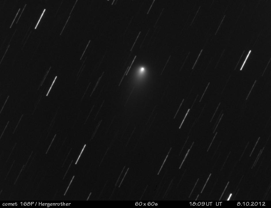 Kometa 168P/Hergenrother 8.10.2012 foto: Milan Antoš, Jablonec nad Nisou