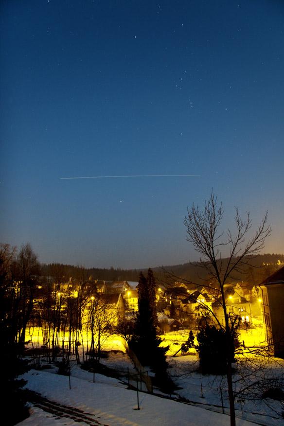 ISS mezi Orionem a Velkým psem