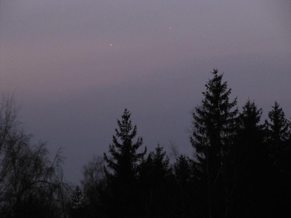 Jupiter a Merkur 15.3.2011