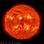 Slunce při pohledu z družice SDO (credit: NASA)
