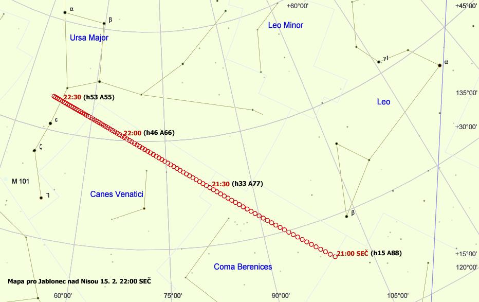 celková mapka asteroidu 2012 DA14
