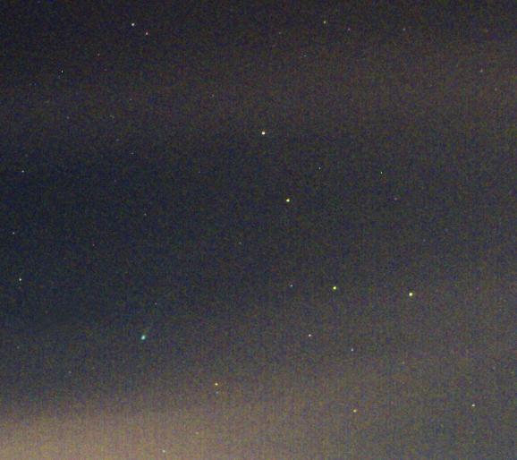 kometa ISON výřez 14x20s
