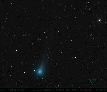 kometa Lovejoy 12.11.2013, foto: MaG
