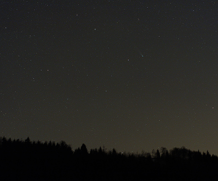 Kometa Lovejoy z Jizerky 14.12.2013, MaG