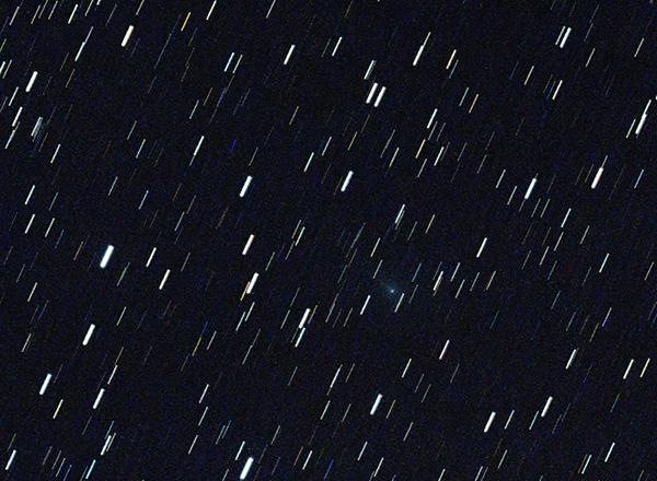 kometa Catalina kolem půlnoci