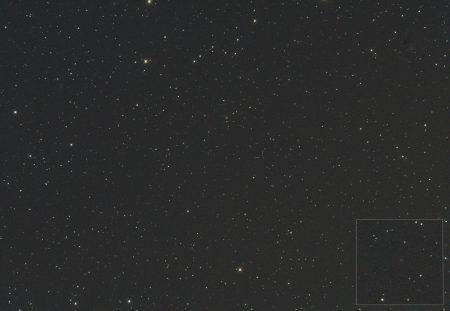 C/2017 K2 (PanSTARRS), 24. 7. 2020, 00:00 SELČ, 10×30s, ISO6400, Canon 6D, Orion CT8 f1000 mm