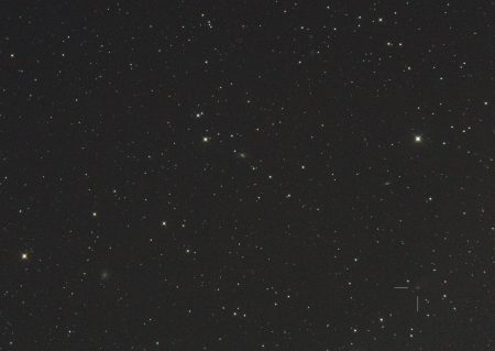 C/2018 N2 (ASASSN), 23. 7. 2020, 23:30 SELČ, 7×30s, ISO6400, Canon 6D, Orion CT8 f1000 mm
