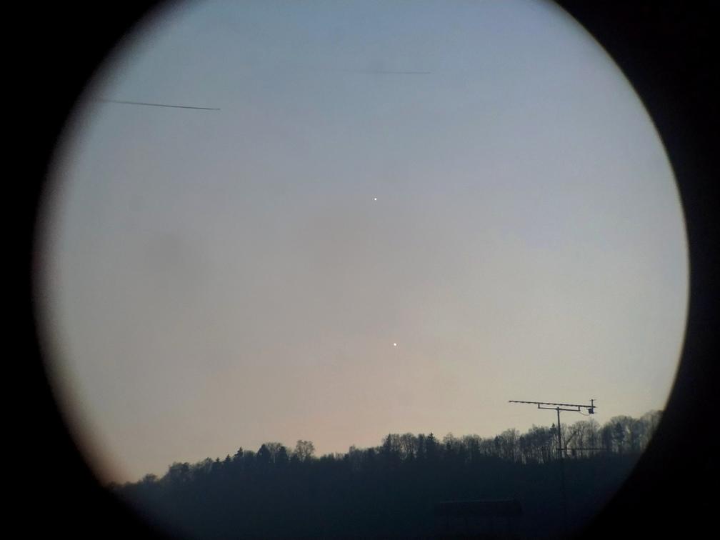 Venuše a Jupiter z Valmezu