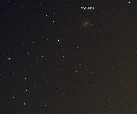 C/2019 N1 (ATLAS), 23. 7. 2020, 23:30 SELČ, 14×30s, ISO6400, Canon 6D, Orion CT8 f1000 mm