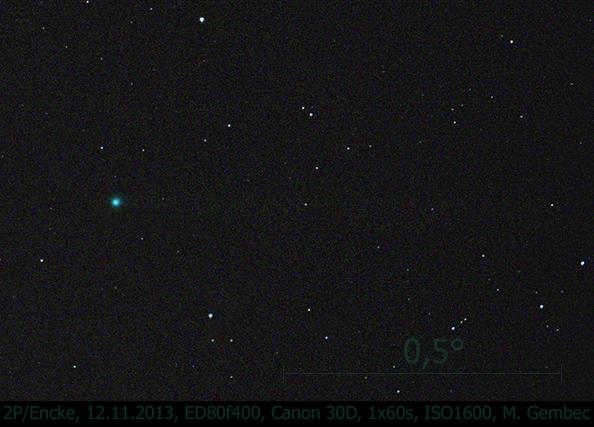 kometa 2P/Encke, foto: MaG