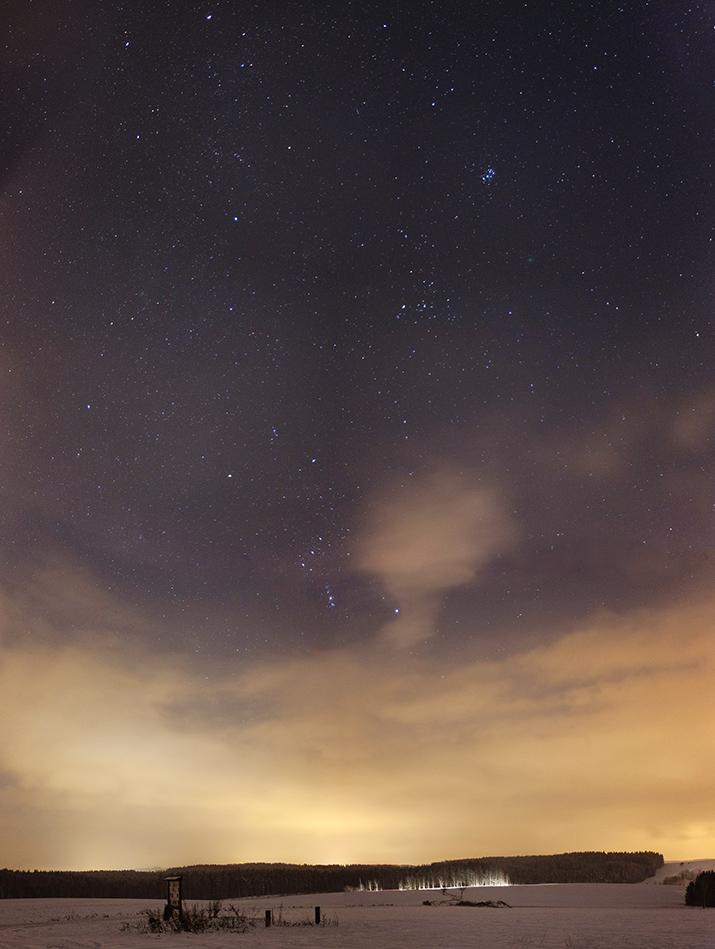 Kometa 46P nad Mříčnou