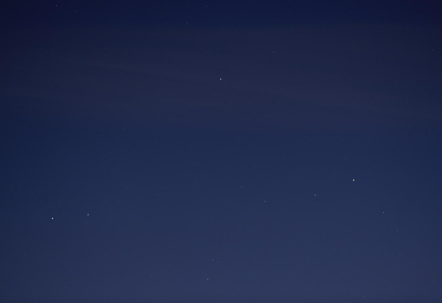 Pole s kometou 96P/Machholz v ED80/600 při f402 mm, Martin Gembec
