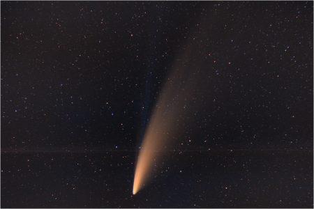 C/2020 F3 (NEOWISE), 12. 7. 2020, 03:06, Ralsko, Pentax K-70, Samyang 85mm T1.5 AS IF UMC VDSLR, GPS ASTROTRACER ON, 60x10sec, ISO 800, dark, flat, bias