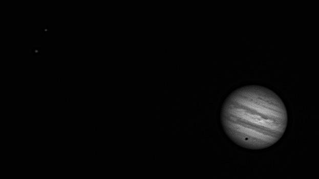 Jupiter a Callisto 22.2.2014, foto: Jiří Kapras