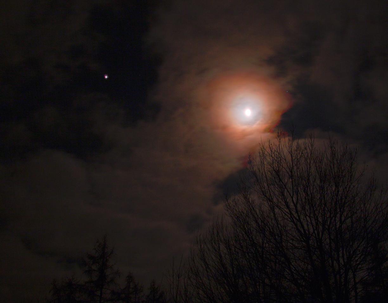 Jupiter a Měsíc