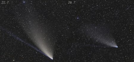 Kometa přístrojem FRAM 22. a 29. 7. 2020