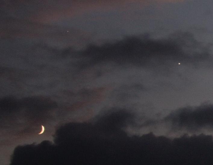 Venuše Jupiter a Měsíc 20. 6. 2015