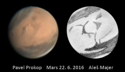 Mars 22.6.2016 na fotografii a kresbě