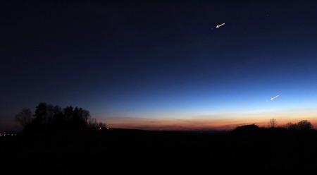 Merkur a Mars