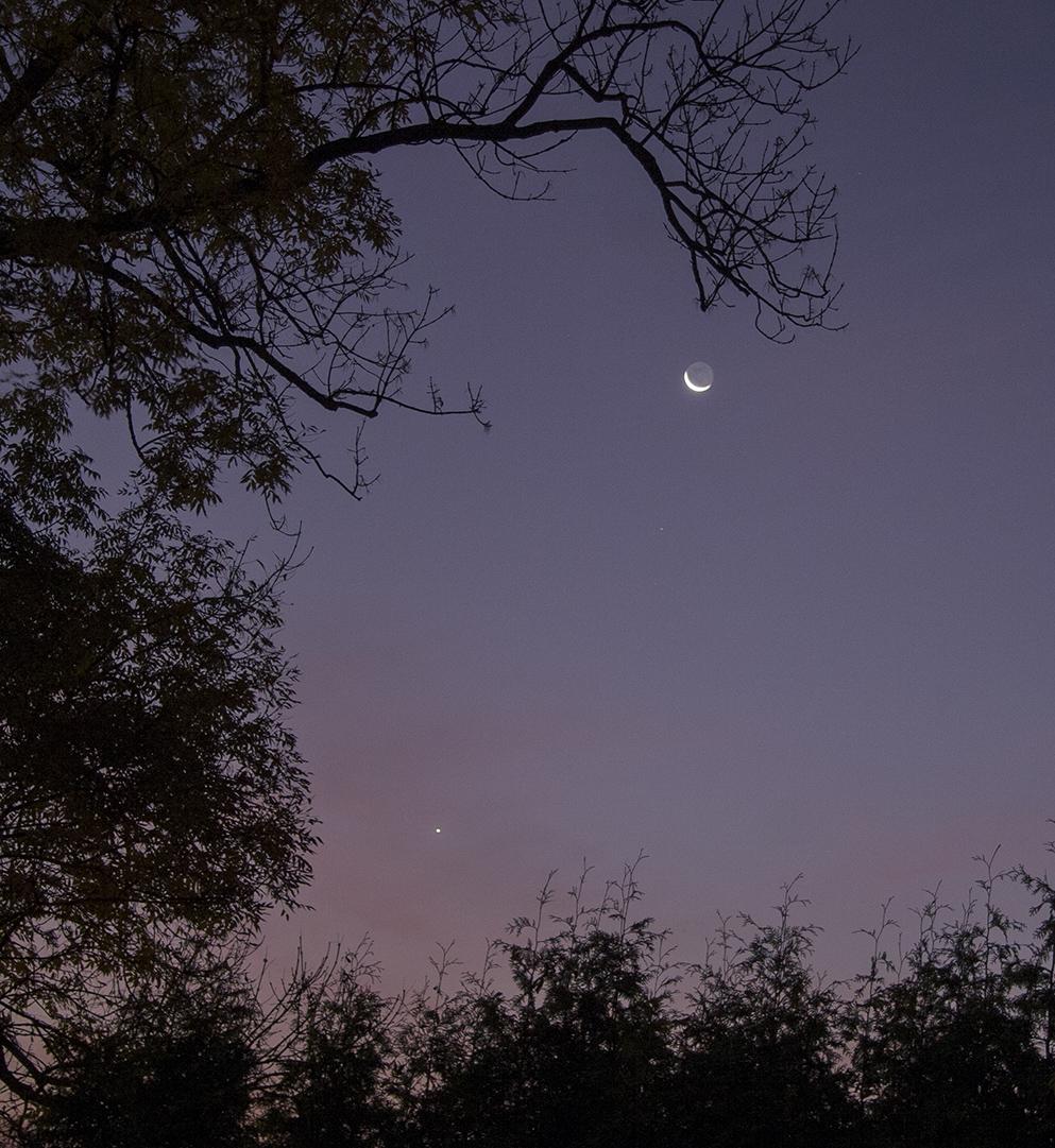 Měsíc, Mars a Venuše ráno 17. 10. 2017, Martin Gembec