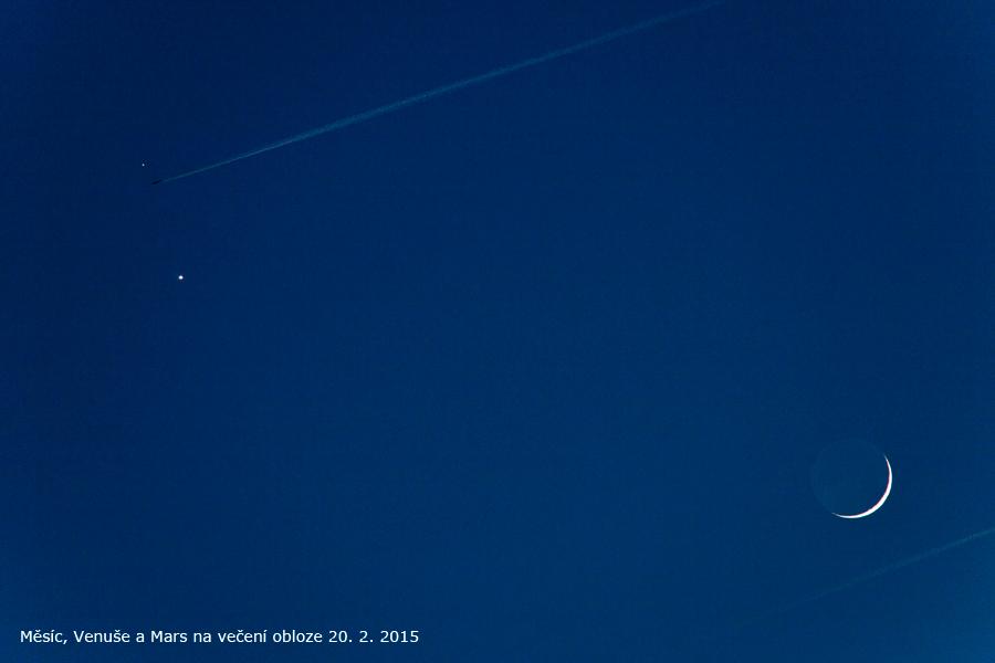 Měsíc Venuše a Mars