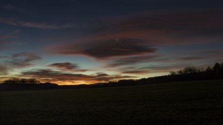 Venuše a Merkur ráno 19. listopadu 2020