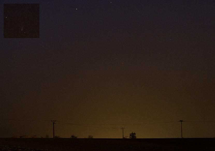 kometa PanSTARRS v zákalu
