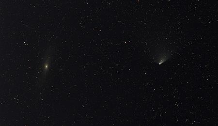 kometa a galaxie 9 snímků