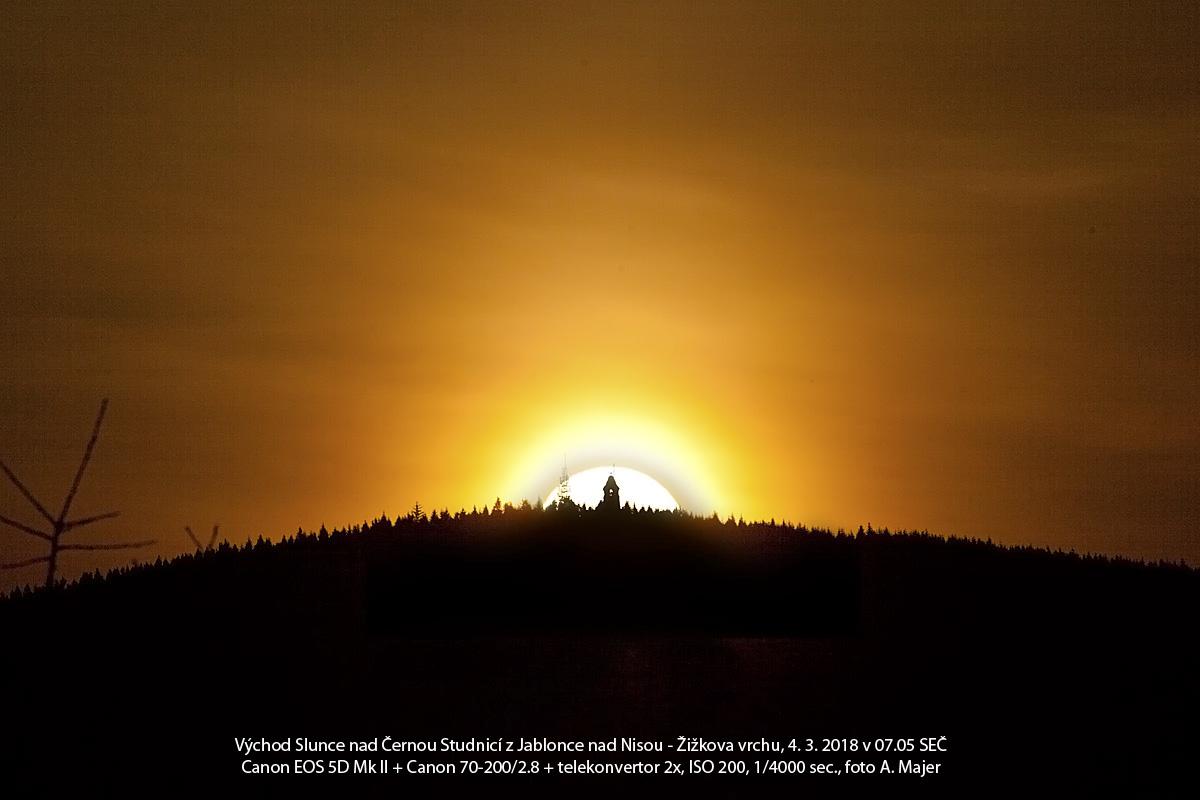 východ Slunce 4.3.2018 Aleš Majer