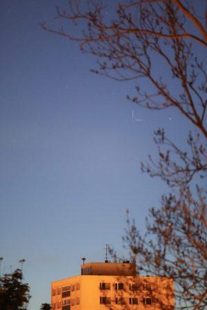 Kometa C/2020 F8 (SWAN) za svítání z Jablonce nad Nisou 21. 5. 2020