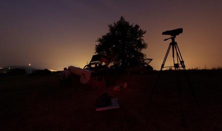 atmosféra při pozorování Perseid, Cassi