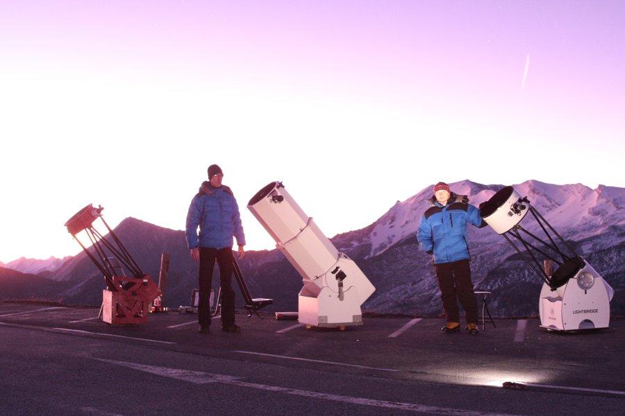Hopi a Aleš na Edelweissspitze