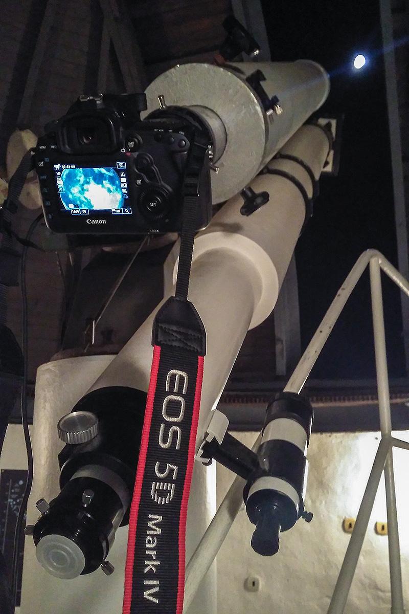 Focení Měsíce s ISS na hvězdárně