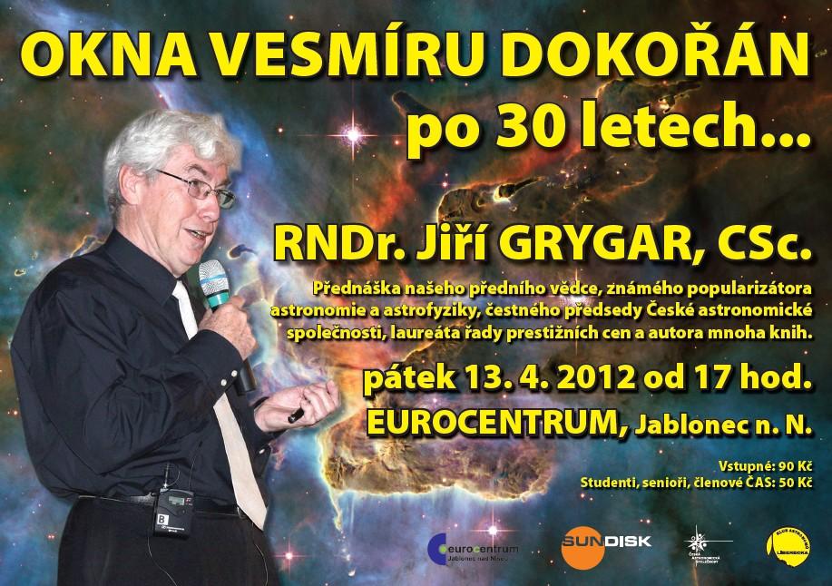 Jiří Grygar přednáší v Jablonci nad Nisou