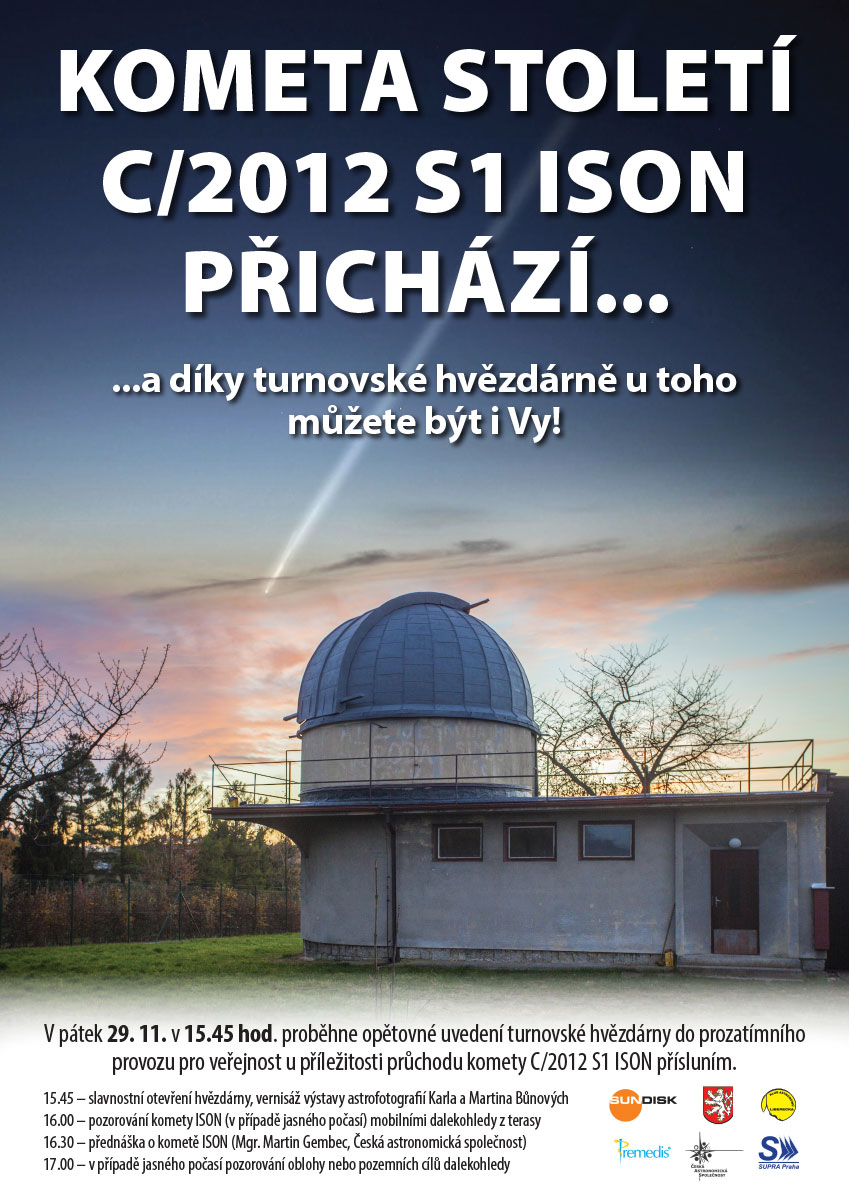 plakát hvězdárna Turnov 29.11.2013