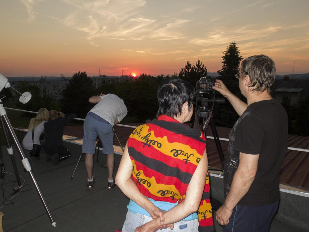Západ Slunce 30. 6. 2015