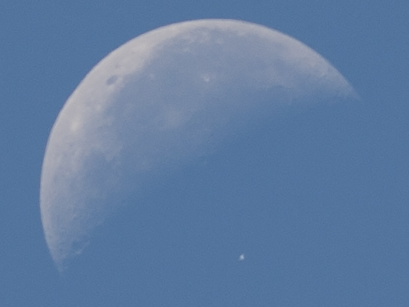 ISS a Měsíc 7. 7. 2018