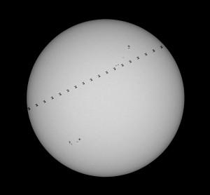 Přelet ISS přes Slunce 23. 8. 2017 © Pavel Růžička