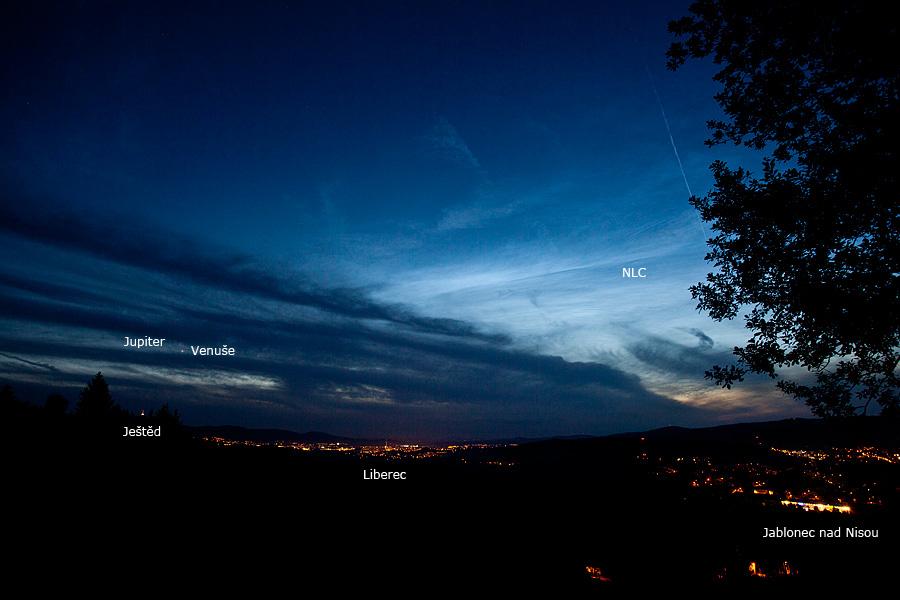Jupiter, Venuše a Ještěd a NLC 28.6.2015