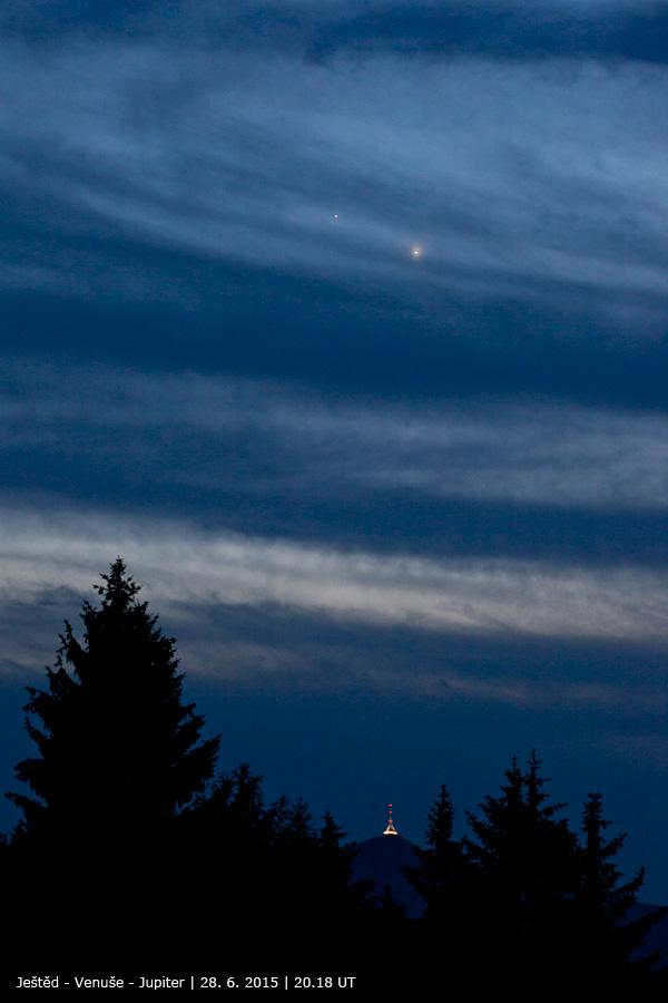 Jupiter, Venuše a Ještěd 28.6.2015
