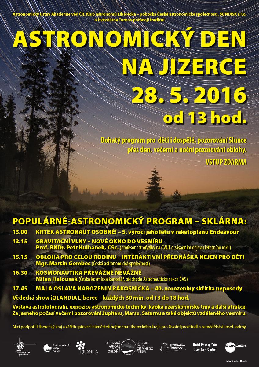 Astronomický den na Jizerce 2016 pozvánka