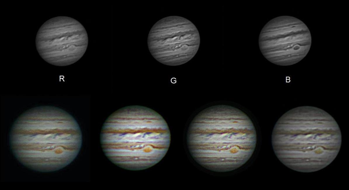 Jupiter z pozorovatelny Javorník na jaře 2015