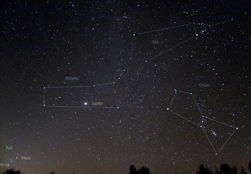Pás zvířetníkového světla se ještě za tmy před svítáním táhl od Marsu až k Uranu