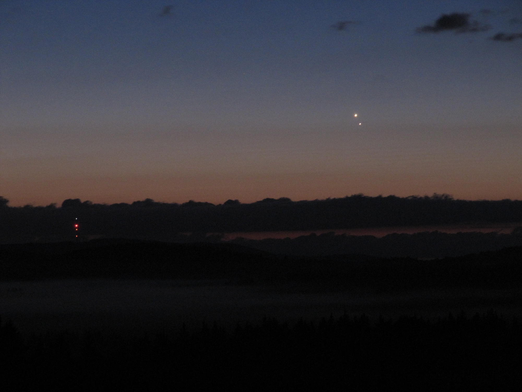 Jupiter, Venuše a Kleť