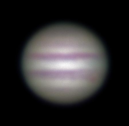 Jupiter přes refraktor v Turnově