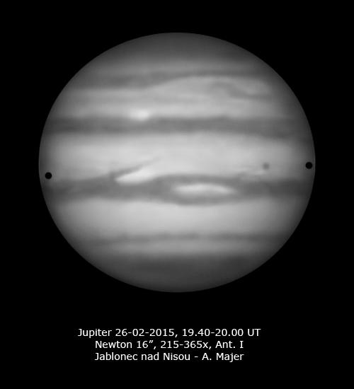Jupiter 26. 2. 2015 kreslil Aleš Majer