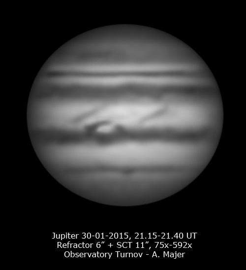 Jupiter kresba A. Majer