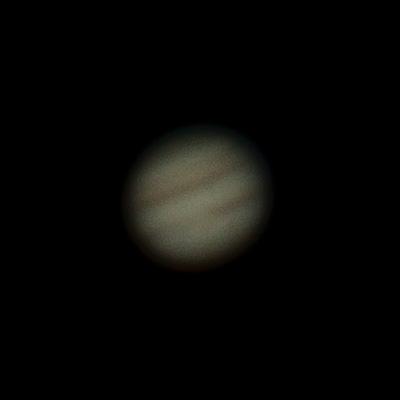 Jupiter jednotlivý záběr