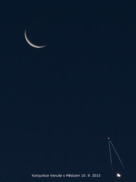 Konjunkce Venuše s Měsícem 10.9.2015 Aleš Majer