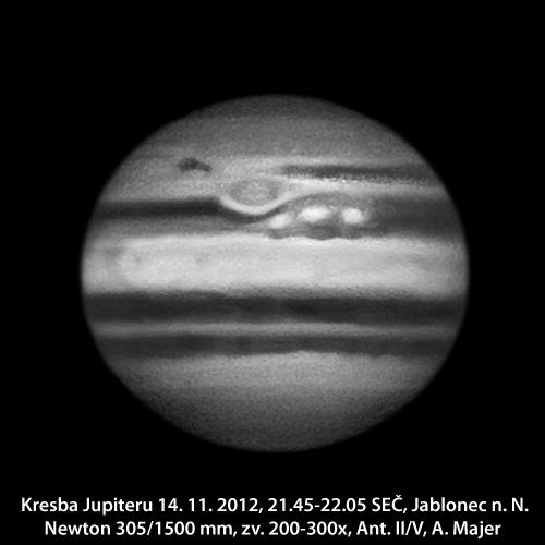 kresba Jupiteru ze 13. 11. 2012 Aleš Majer